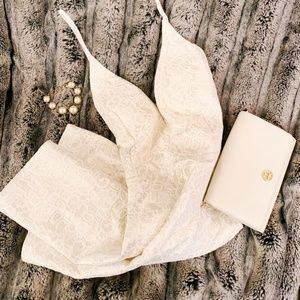 WINDSOR lace metallic babydoll dress
